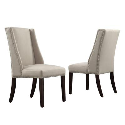Mansfield Ash Fabric Wing Back Dining Chair (Set of 2)