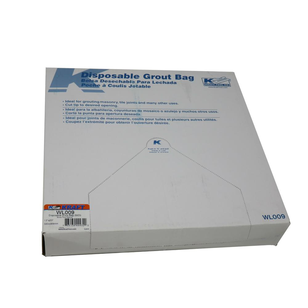 Disposable Grout Bags 50 Pack Wl009 The Home Depot