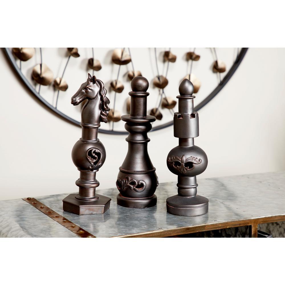 Bronze Decorative Chess Piece Finials