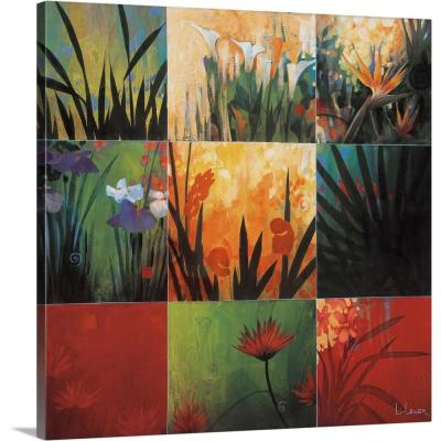 """Tropical Nine Patch"" by Don Li-Leger Canvas Wall Art"