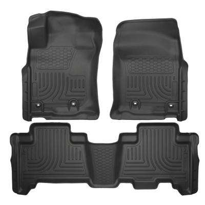 Front & 2nd Seat Floor Liners Fits 14-18 GX460, 13-18 4Runner