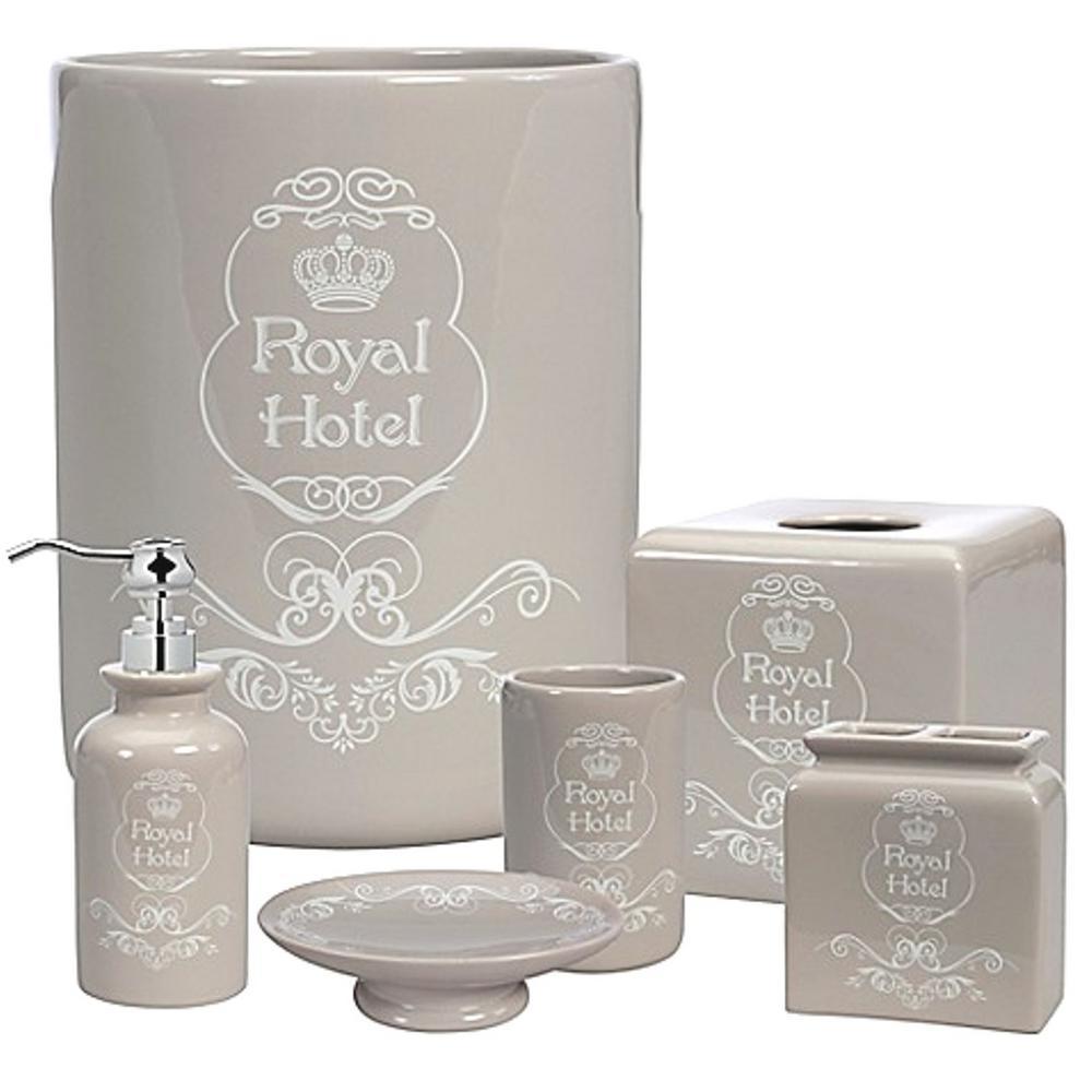 Creative Bath Creative Bath Royal Hotel 8 Piece Ceramic Bath Accessory Set Rht08tpe The Home Depot