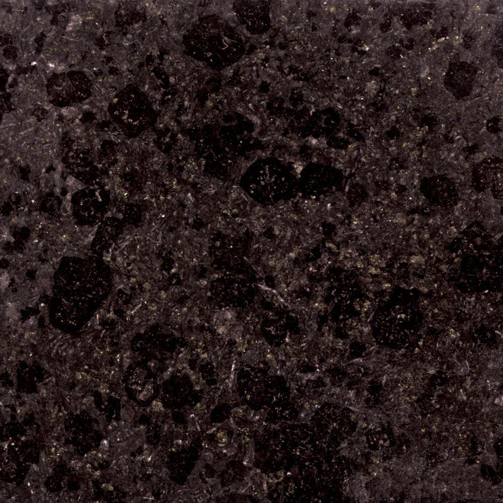 4 in. x 4 in. Black Granite Sample