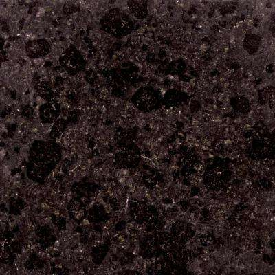 4 in. x 4 in. Black Granite Sample