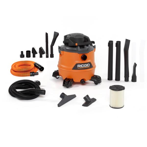 16 Gal. 6.5-Peak HP NXT Wet/Dry Shop Vacuum with Detachable Blower, Filter, Hose, Accessories and Car Cleaning Kit