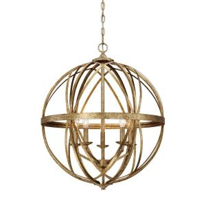 Lakewood collection 5 light vintage gold sphere pendant 2285 vg lakewood collection 5 light vintage gold sphere pendant 2285 vg the home depot mozeypictures Image collections