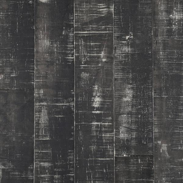 Hand Scraped Strand Woven Charcoal 3/8 in. T x 5-1/8 in. W x 36 in. L Eng Click Bamboo Flooring (25.60 sq. ft. / case)