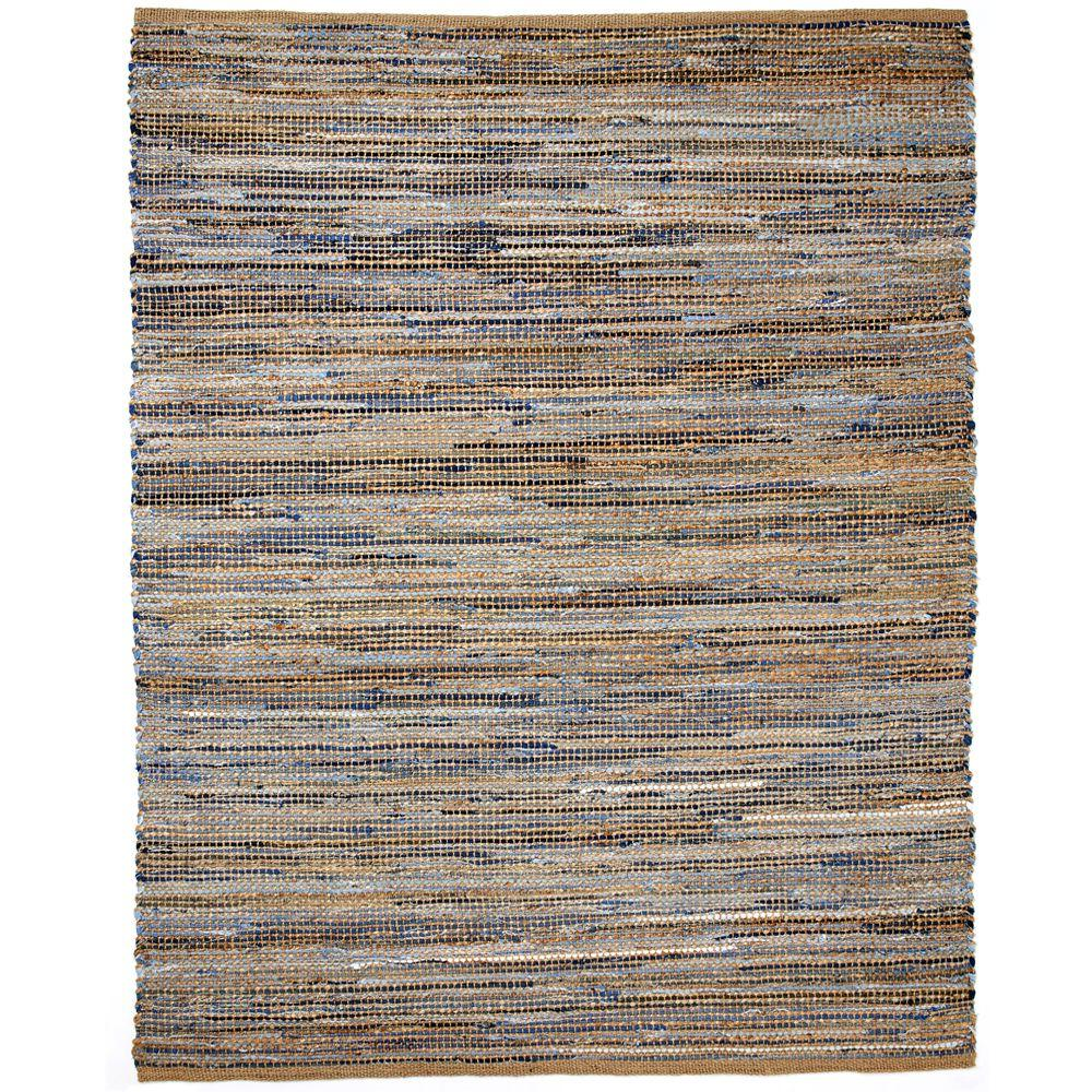 Anji Mountain American Graffiti Denim and Jute 5 ft. x 8 ft. Area Rug
