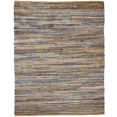 American Graffiti 8 ft. x 10 ft. Denim and Jute Area Rug