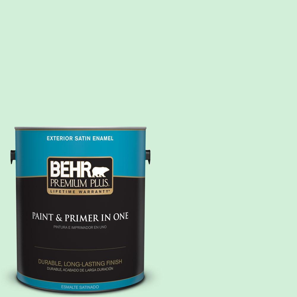 BEHR Premium Plus 1-gal. #460A-2 Tropical Dream Satin Enamel Exterior Paint