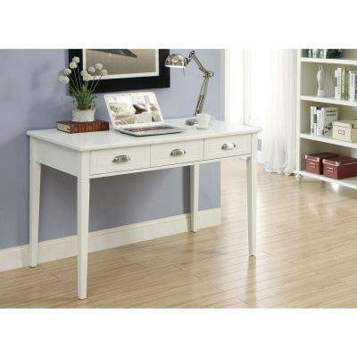 Amelia White Desk with Storage