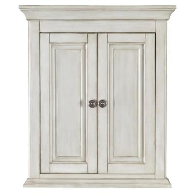 Corsicana 24 in. W x 28 in. H Wall Cabinet in Antique White