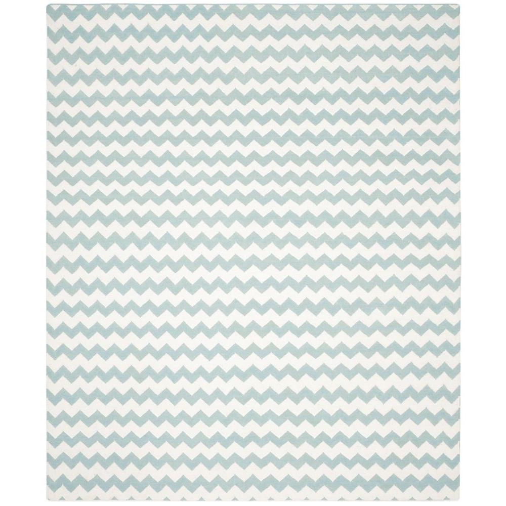 Dhurries Ivory/Blue 8 ft. x 10 ft. Area Rug