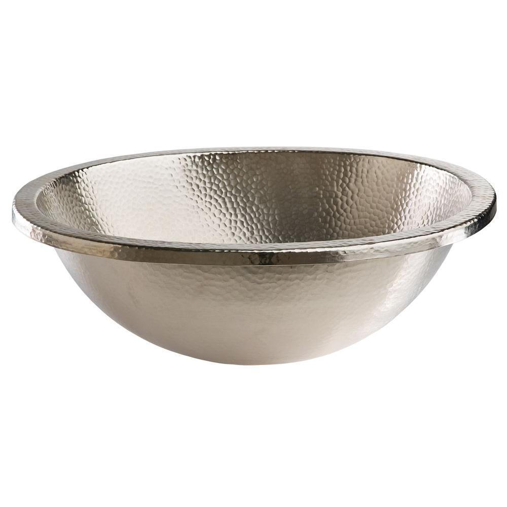 Delicieux SINKOLOGY Edison Dual Mount Drop In Oval Bathroom Sink In Hammered Nickel