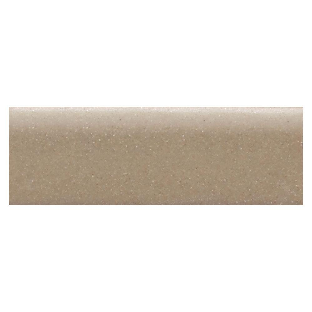Semi-Gloss Elemental Tan 2 in. x 6 in. Ceramic Bullnose Wall