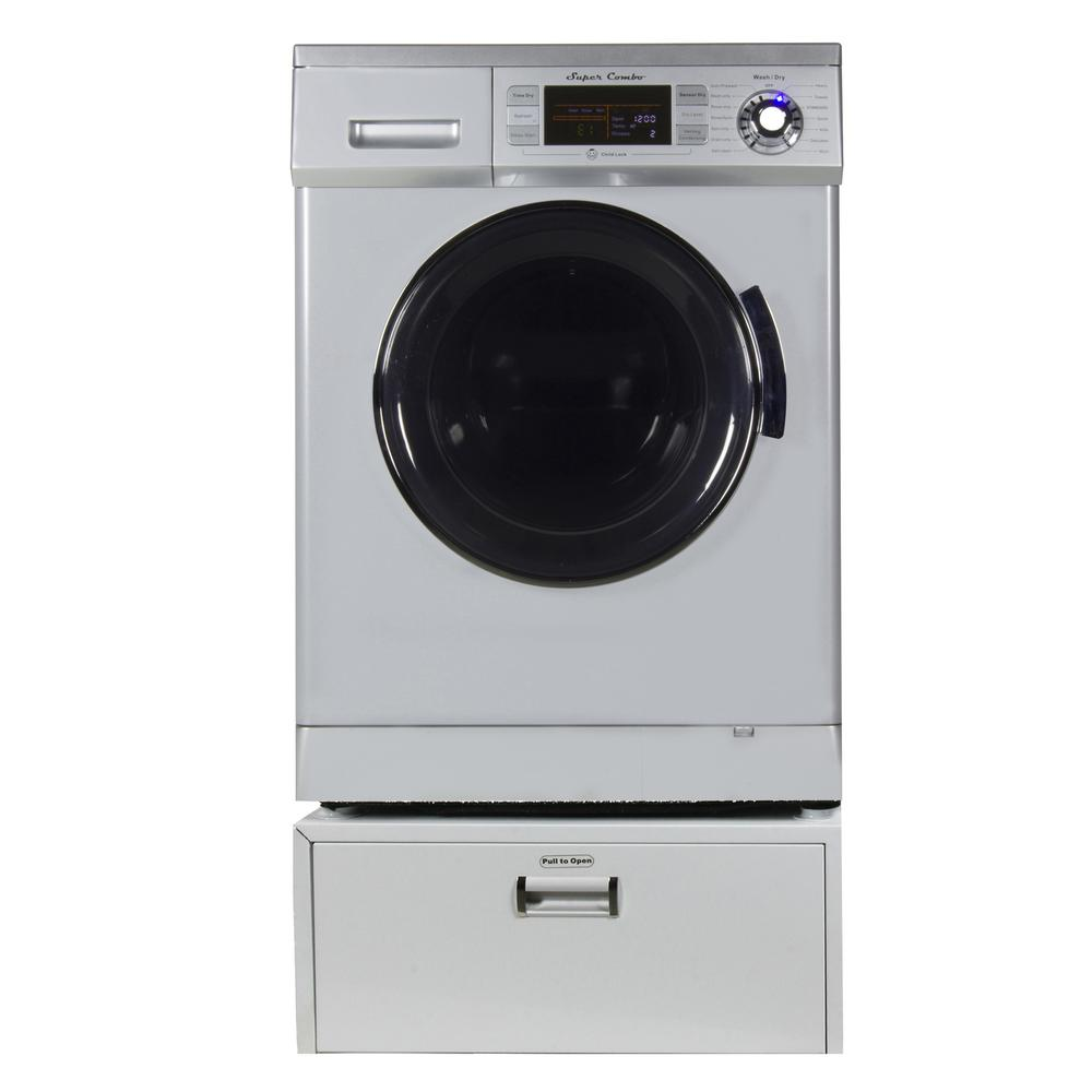 All-in-one 1.6 cu. ft. Compact Combo Washer Dryer with Optional