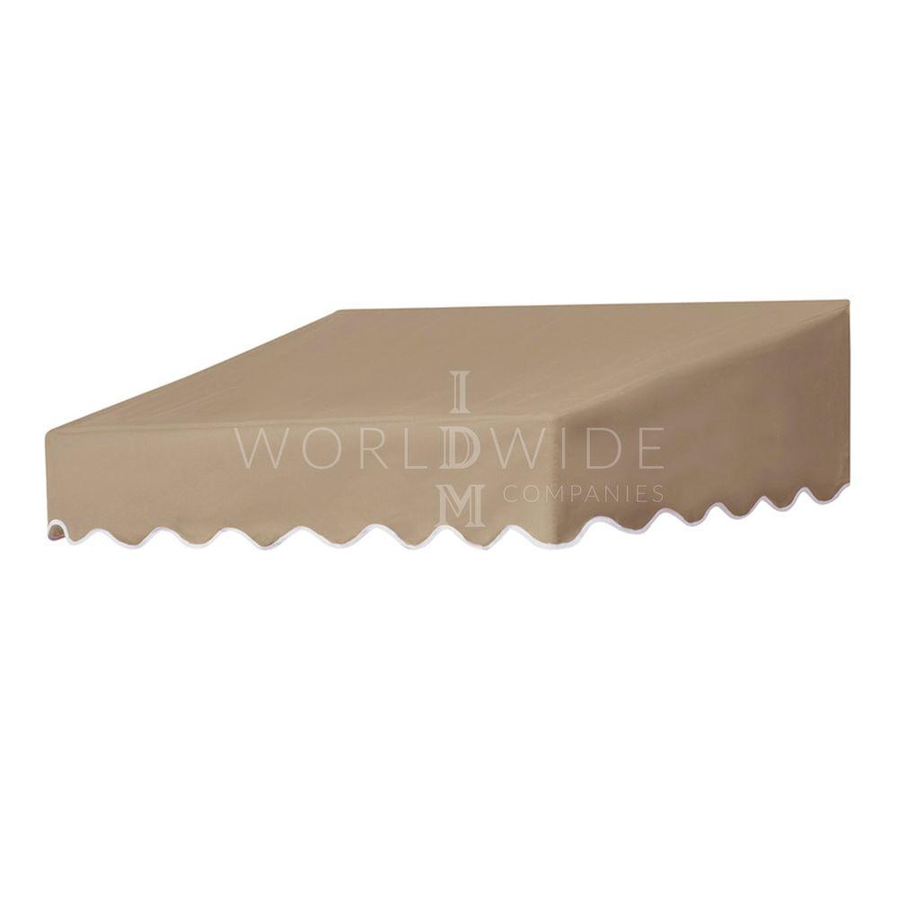 Door Canopy in a Box 4 ft. Traditional Non-Retractable Door Canopy (50 in. Projection) in Sand