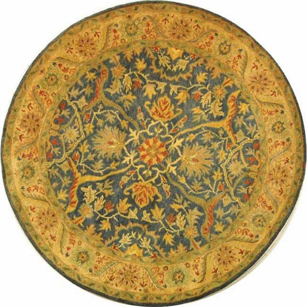 Safavieh Antiquity Blue 6 Ft X 6 Ft Round Area Rug At14e