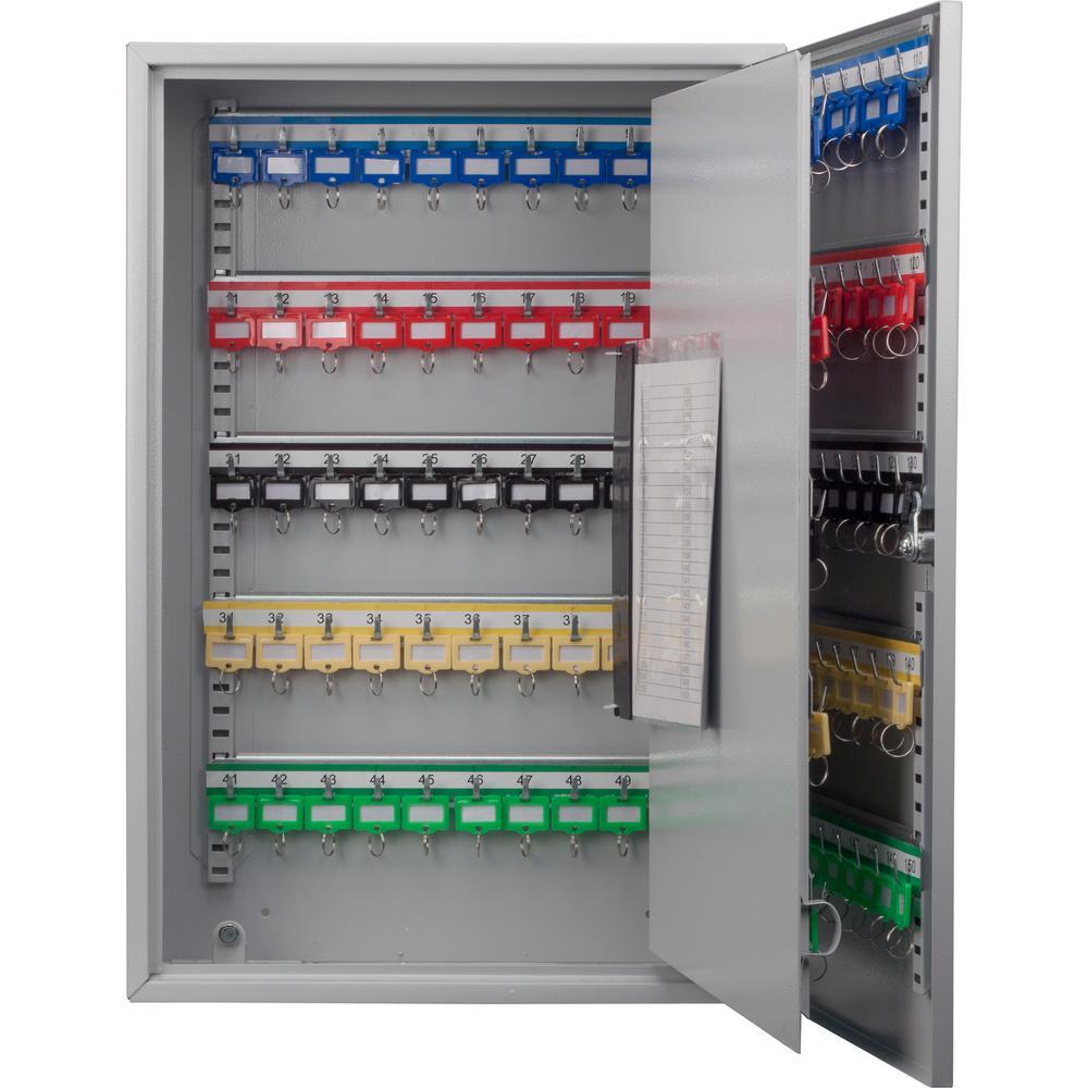 150-Position Steel Key Cabinet with Key Lock in Grey