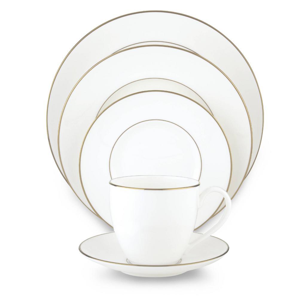 Continental Dining 5-Piece Gold Dinnerware Set