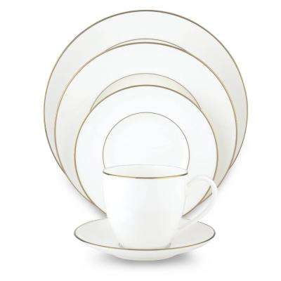 Continental Dining 5-Piece Gold Dinnerware Set