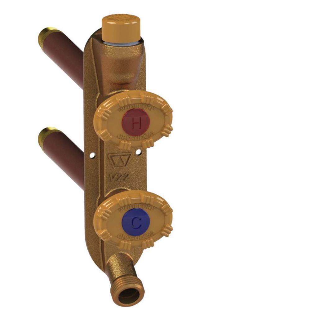 Woodford 1/2 In. PEX X 24 In. L Model 22 Freezeless Brass