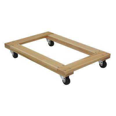 900 lbs. 24 in. x 36 in. Hardwood Dolly Open Deck