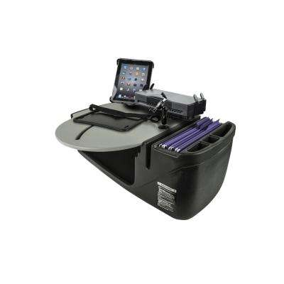 Roadmaster Car Desk with Inverter, Phone Mount, Tablet Mount and Printer Stand Gray
