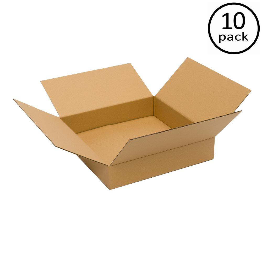 Plain Brown Box 24 in. x 24 in. x 4 in. 10 Moving Box Bundle