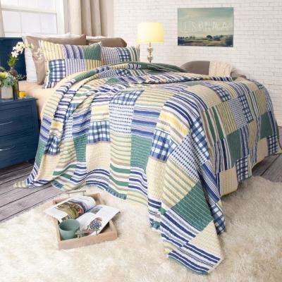 Lynsey Yellow Polyester Twin Quilt