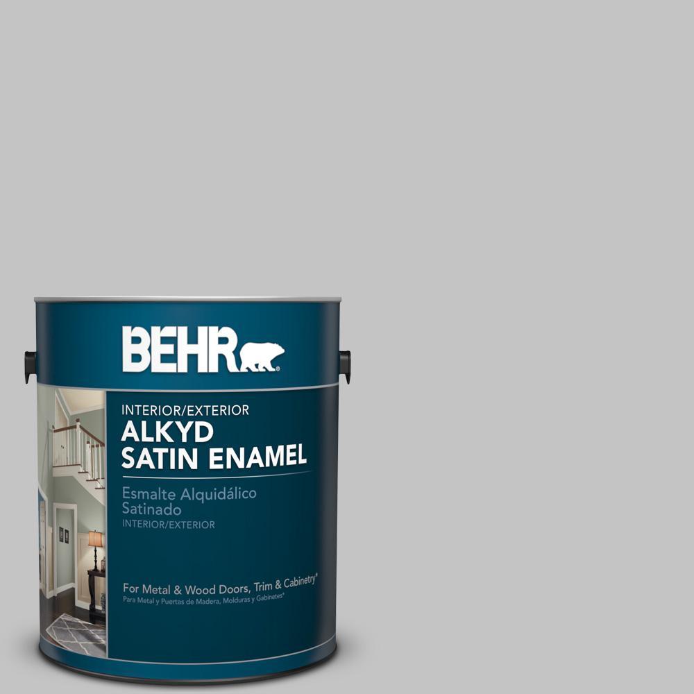 1 gal. #N520-2 Silver Bullet Satin Enamel Alkyd Interior/Exterior Paint