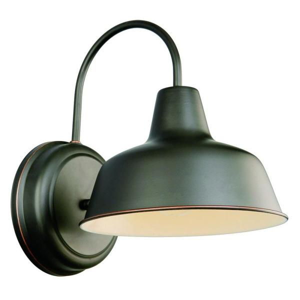 Design House Mason 1 Light Oil Rubbed Bronze Indoor Outdoor Wall Mount Barn Light Sconce 519504 The Home Depot