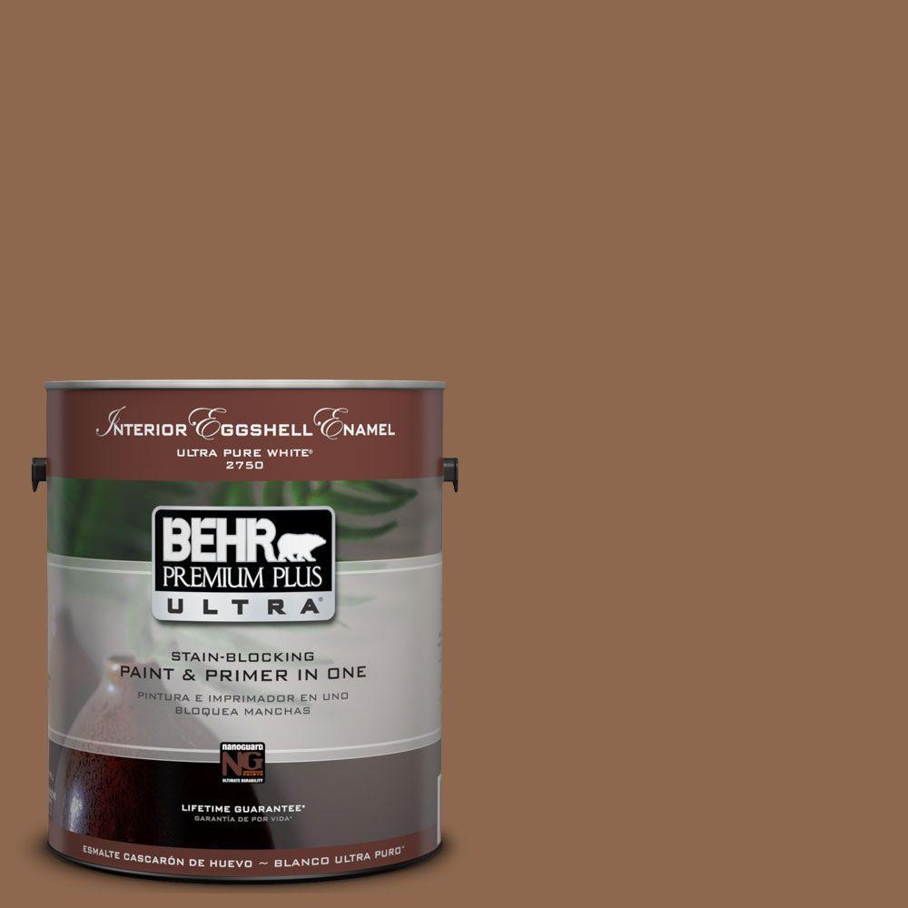 Ul130 4 Caramel Swirl Eggshell Enamel Interior Paint And Primer In