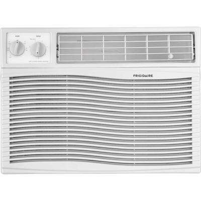 10,000 BTU 115-Volt Window-Mounted Compact Air Conditioner with Mechanical Controls in White