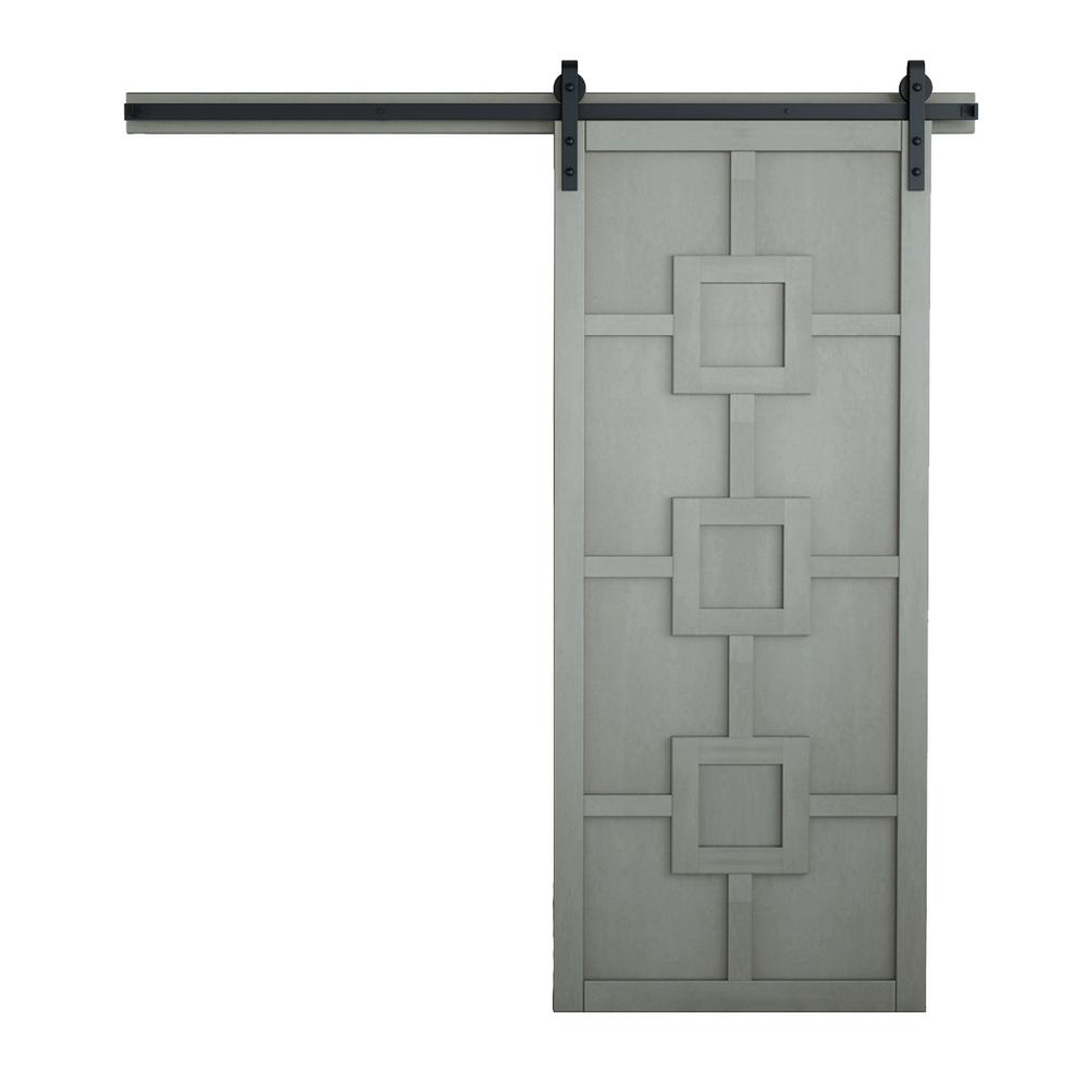 Verycustom 36 In X 84 In Mod Squad Dove Wood Sliding Barn Door With Hardware Kit Rwms36dob1 The Home Depot
