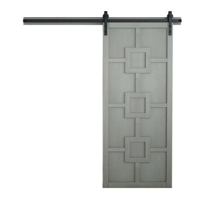 42 in. x 84 in. Mod Squad Dove Wood Sliding Barn Door with Hardware Kit