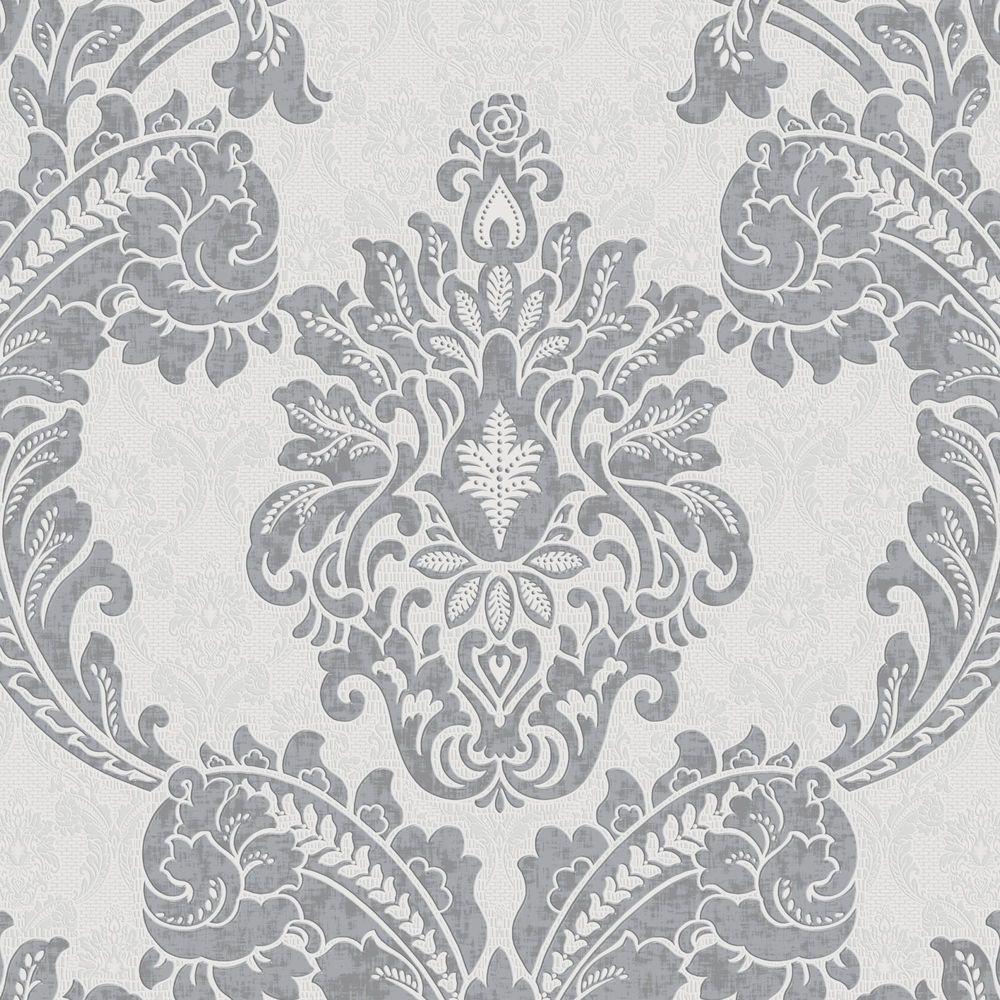 Graham & Brown 56 sq. ft. Gray Regent Wallpaper by Graham & Brown