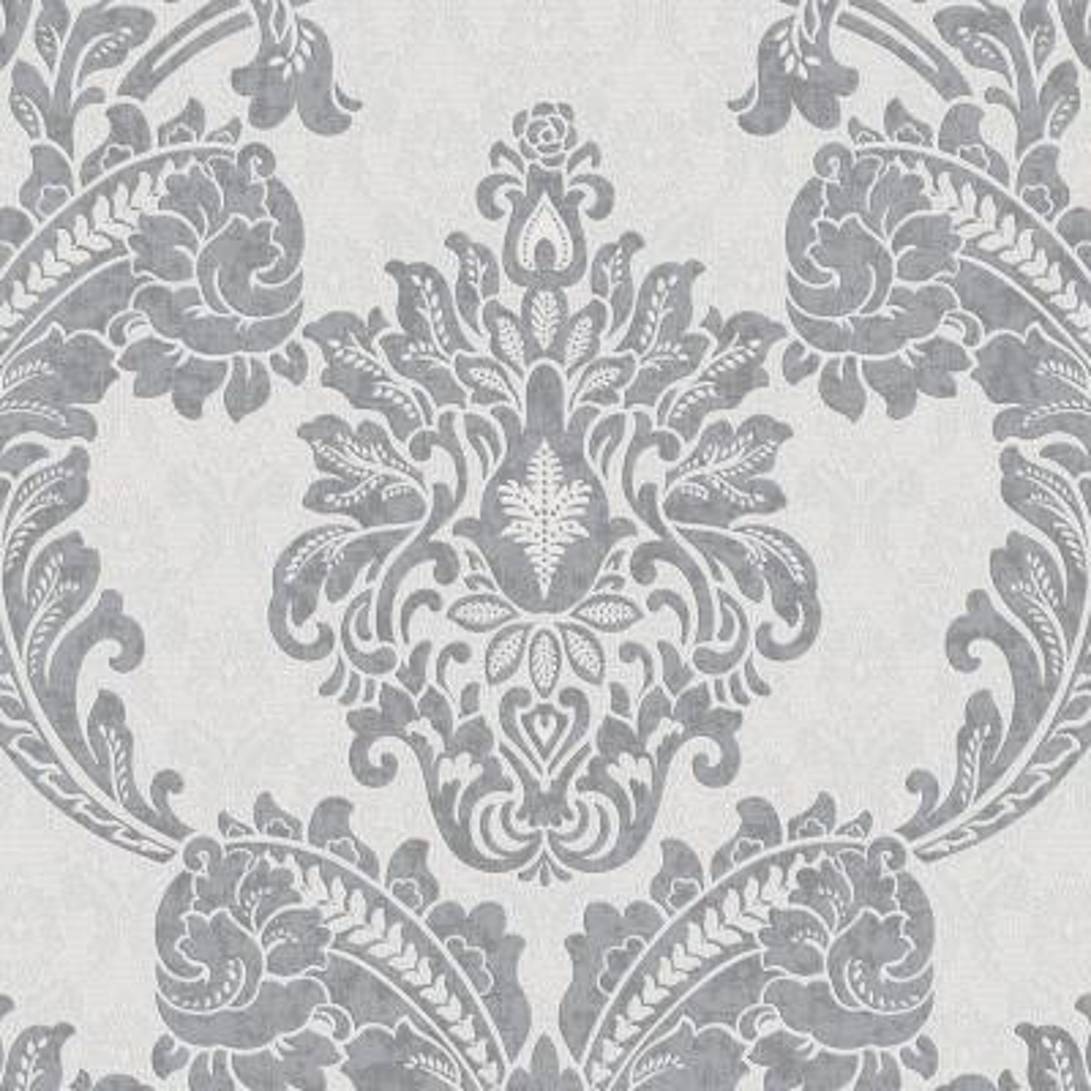 56 sq. ft. Gray Regent Wallpaper