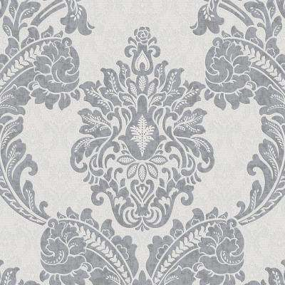 56 sq. ft. Gray Regent Wallpaper