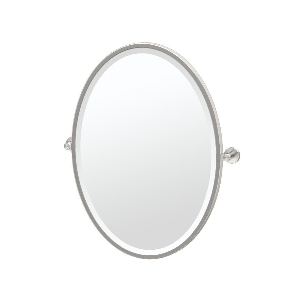 Gatco Glam 21 in. W x 28 in. H Framed Oval Mirror in Chrome