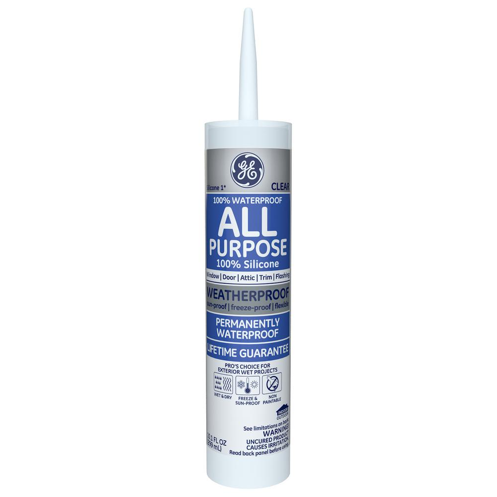 All Purpose Silicone 1 10.1 oz. Clear Window and Door Caulk