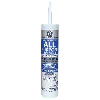 10.1 oz. Clear Silicone I All Purpose Sealant
