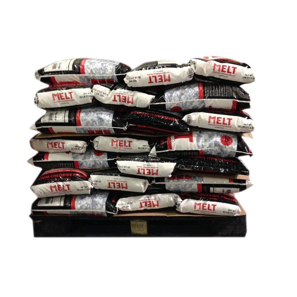 Melt 25 lb. Professional Strength Calcium Chloride Pellets Ice Melter (Pallet