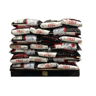 Melt 25 lb. Professional Strength Calcium Chloride Pellets Ice Melter (Pallet of 100 Bags)