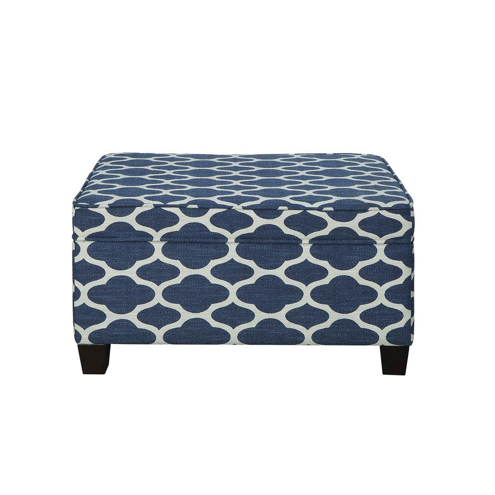 Ganya Weave Fabric Storage Bench