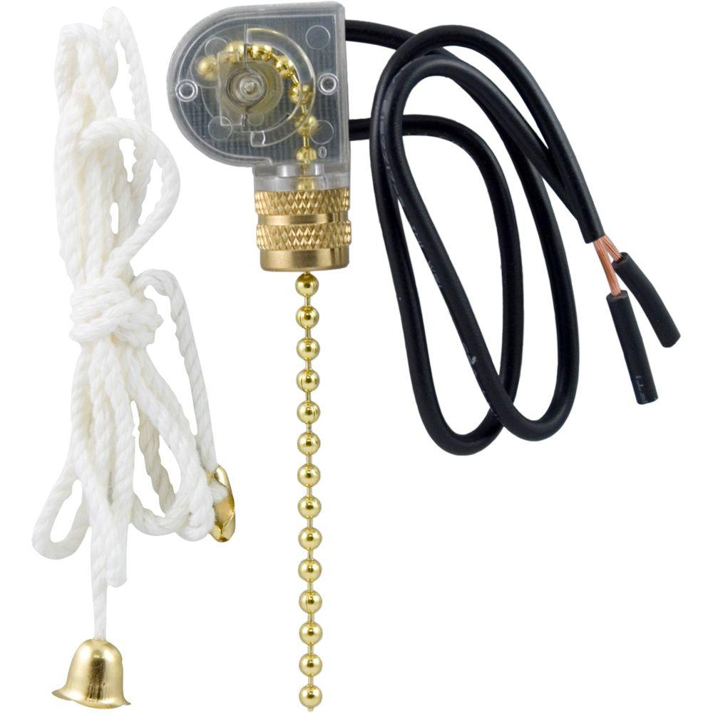 GE Pull Chain Switch for Lamps and Fixtures