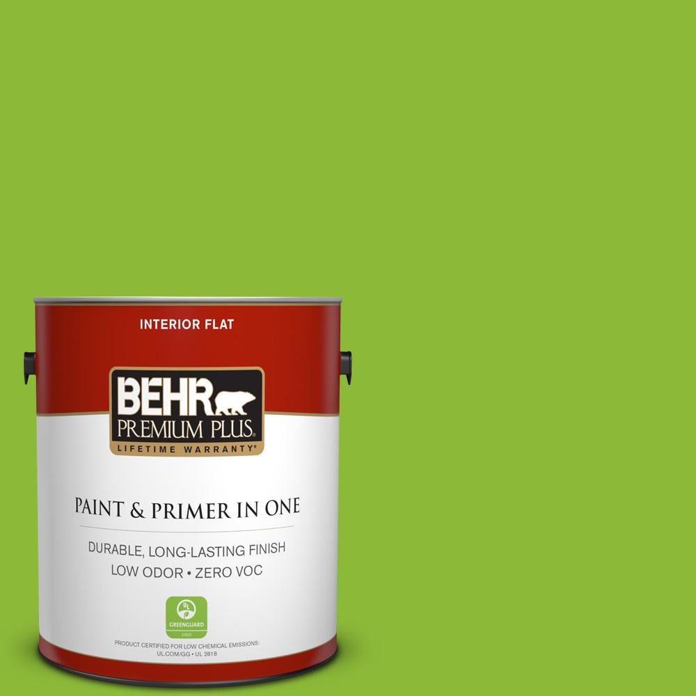BEHR Premium Plus 1-gal. #S-G-420 Limeade Zero VOC Flat Interior Paint