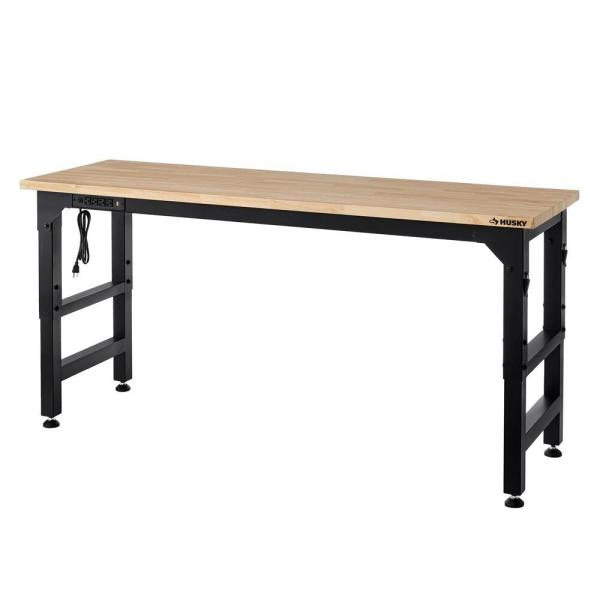 Heavy Duty 6 ft. Adjustable Height Workbench