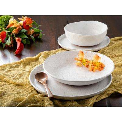 Kaya White Speckle 16-Piece Dinnerware Set