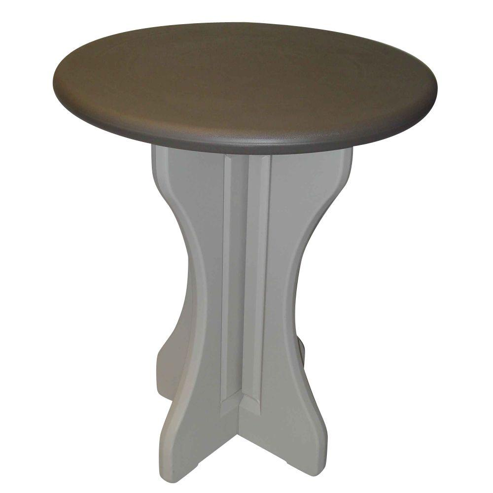 Leisure accents portabello 30 in resin patio bistro table lapt30 p leisure accents portabello 30 in resin patio bistro table watchthetrailerfo